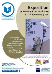 """""""Les BD qui font la différence : Des fourmis dans les jambes"""" à la médiathèque Hélène Berr"""